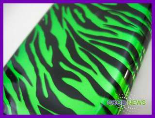 for Sprint Samsung Galaxy S2 Epic 4G Touch   Green Black Zebra Case