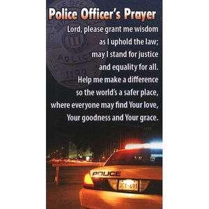 POLICE OFFICERS PRAYER WALLET OR PRAYER CARD SET OF 2