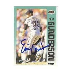 Eric Gunderson San Francisco Giants 1992 Fleer Signed Card