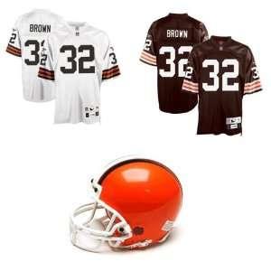 Signed Jim Brown Helmet   Pre Ordered Jersey Full Ticket