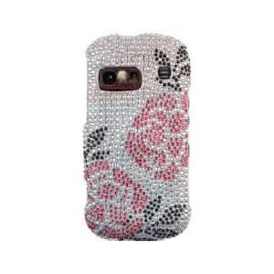 Hard Diamond Phone Protector Cover Case Winter Rose For