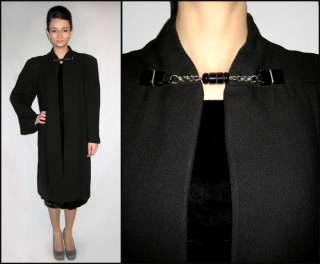 Vintage 40s black dress jacket coat. Pleated sleeves, strong shoulder