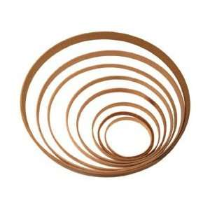 12 Round Oak Hoop Arts, Crafts & Sewing