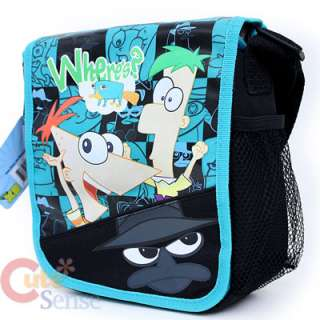 Phineas &Ferb School Roller Backpack Lunch Bag Set Hero