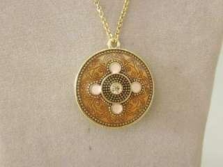 PILGRIM Circle Round Pendant Gold Tone Necklace