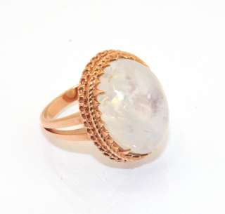 Technibond Fire Quartz Ring 14K Rose Gold Clad Silver Gemstone Size 7