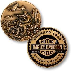 World War II Harley Davidson Challenge Coin Everything
