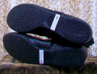Palladium Womens Gorgeous Black Leather Mid Calf Buckle Flat Boots sz