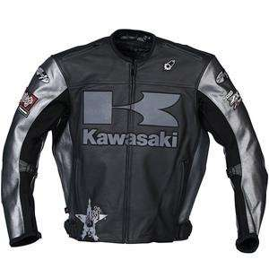 Joe Rocket Kawasaki Heavy Leather Jacket   Medium/Black