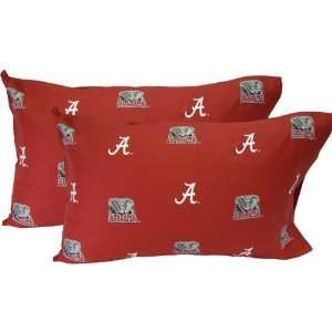 Alabama Crimson Tide Printed Pillow Case   (Set of 2