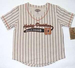 Harley Davidson Boys Kids Baseball Style T Shirt