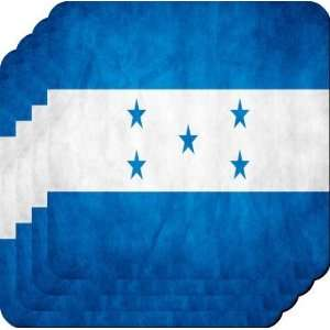 Rikki KnightTM Honduras Flag   Square Beer Coasters