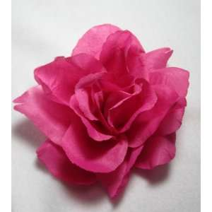 Large Pink Rose Hair Flower Clip    Beauty