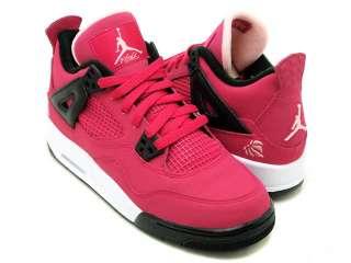 Nike Air Jordan 4 IV GS Voltage Cherry Pink Love Heart 487724 601 Girl