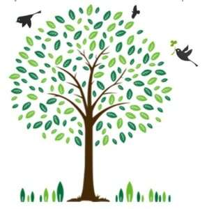 Decor Wall Sticker Decal   Birds and Tree