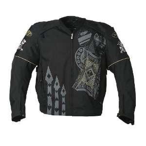 Joe Rocket Lucky Mens Textile Motorcycle Jacket Black