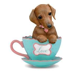 Dachshunds With Personali tea Figurine Collection: Home
