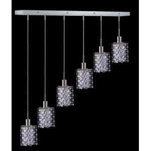 Hollywood Design 6 Light 40 Linear Star Adjustable Pendants with