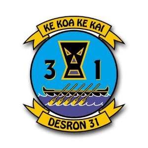 US Navy Destroyer Squadron 31 Decal Sticker 5.5