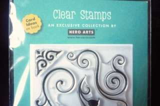 Pc Clear Stamp Set~FANCY FLOURISHES~ BYHERO ARTS