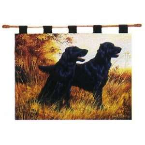 Flat Coated Flatcoated Retriever Dogs Tapestry Wall