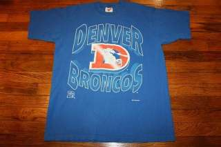 vtg 90s 1994 DENVER BRONCOS t shirt * football nfl