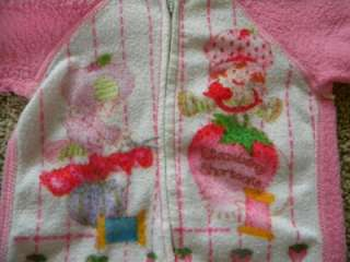 Vtg Strawberry Shortcake Baby Footie Pajamas 0 6 Mos.