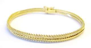 Plated / Sterling Silver Foxtail Link Fashion Bracelet ~ 8 x 5.7mm