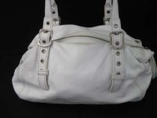 FRANCESCO BIASIA White Leather Small Shoulder Bag