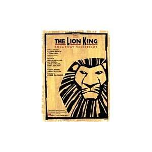 Lion King Broadway Selections Easy Piano Book Musical