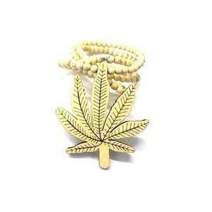 Cannabis Weed Good Wood Goodwood Maple Pot Leaf Replica Pendant Piece