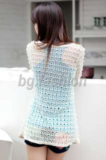 Women Lace Hollow Cardigan Crochet Open Front Top Shrug