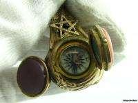 AWESOME* Vintage Masonic Symbol Fob Opening Windows Jeweled Charm