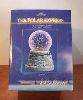 Hallmark Polar Express Believe Journey Water Snow Globe 2004 ★MIB