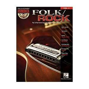 Hal Leonard Folk/Rock   Harmonica Play Along Volume 4 Book