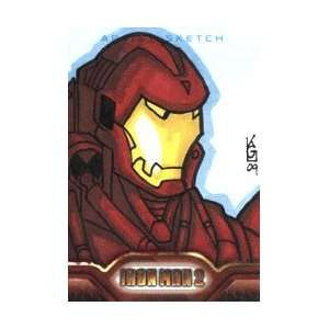 Iron Man 2   Color Sketch Card of Iron Man by Kevin