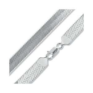 Silver 120 Gauge Herringbone Chain Necklace   22 RINGS Jewelry