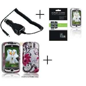 HTC MYTOUCH SLIDE 3G Pink Lotus Premium Designer Hard Protector Case