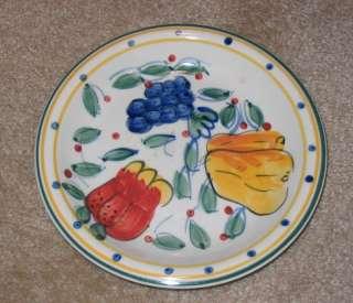 Gibson Hand Painted Mediterranean Garden Salad Plate