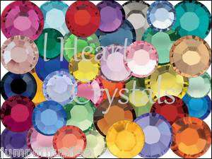 MIXED COLORS Swarovski Crystal 2028 2058 Flatback Rhinestones 144 pcs