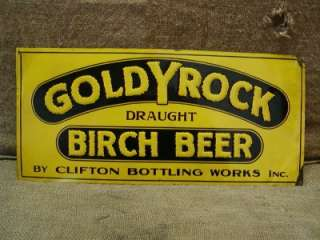 Vintage Goldy Rock Birch Beer Sign Antique Signs Brew