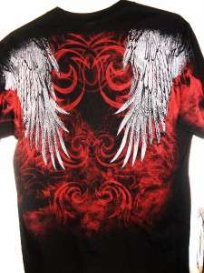 NWT Mens Black Harley Davidson Rolling Spirit Eagle Wing Piston T