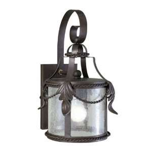 Old World Charm Collection Wall Mount Single Light Fixture In Bronze