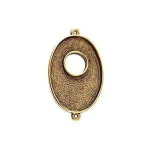 Nunn Design Antique Gold (plated) Grande Oval Bezel Toggle