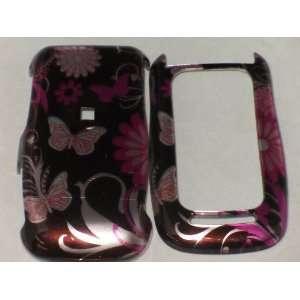 Motorola Barrage V860 Hard Case Pink Butterfly Garden