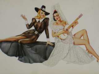 vintage alberto vargas girl pin up 1960s 1970s. Black Bedroom Furniture Sets. Home Design Ideas