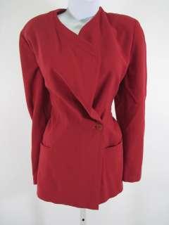 GIORGIO ARMANI Black Label Red Wool Blazer Jacket Sz 38