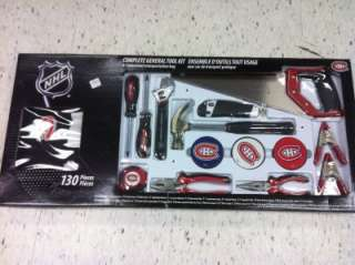 Boomerang Tools NHL 130 PIECE GENERAL TOOL KIT MONTREAL CANADIENS