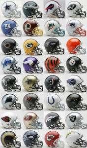 32 NFL Teams Complete Set Riddell Mini Replica Helmets