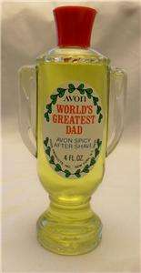 AVON Spicy After Shave  Worlds Greatest Dad Bottle